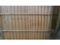 6 foot fence panels and posts