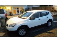 Nissan Qashqai 1.5dci pure drive late 2011 only 59000 miles in White ,all round park sensors