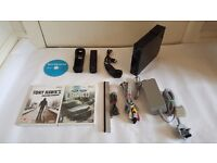BLACK NINTENDO WII CONSOLE, 3 GAMES ALL LEADS