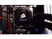 i5 6600k and corsair h60 watercooler + 8gb corsair dominator platinum 3000mhz ddr4ram bundle
