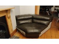 Corner Genuine Leather Sofa from Furniture village - incomplete set