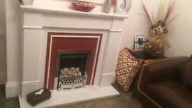 Fire place and Mirror