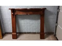 Fire Surround with hearth - Solid Wood - Antique Pine