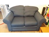 Blue / Grey 2 seat sofa (2 pieces available) - discount (£70) when bought together