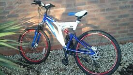 """boy's Sabre 24"""" fireball bike with dual suspension and dual disc brakes"""