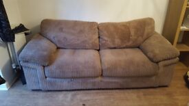 Three seater sofa and 1 chair