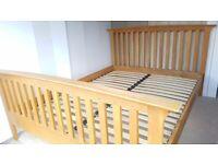 OAK King size bed Frame - possible delivery