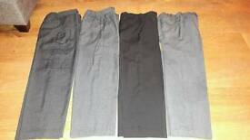Four pairs of age 8 boys school trouser