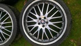 "19"" wheels ET35 5x100 with tyres VW Audi"