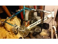 claude butler road bike frame/wheels and other parts