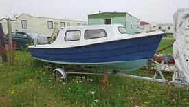 14 ft Fishing Boat with outboard and trailer