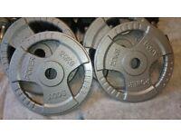 Bodypower Olympic Tri Grip Cast Iron Plates 2 x 20kg
