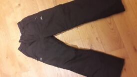 Trespass Black Salopettes - XS mens (perfect for teenagers) Excellent condition