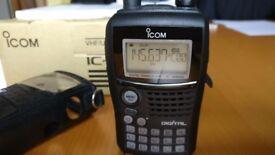 Icom ID-80E D-Star DStar Dual Band 2m / 70cm Handheld Radio Transceiver Ham Amateur VGC Boxed