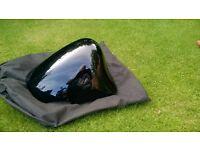 hayabusa seat hump in black