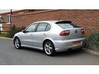 SEAT LEON CUPRA TDI 150 (2004/04 Reg) + 6 SPEED GEARBOX + 150 BHP + SILVER + FSH + STUNNING LOOKS +