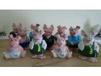 2 sets of collectable Wade Natwest piggybanks