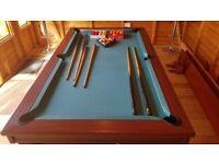 Pool table mahogany solid wood