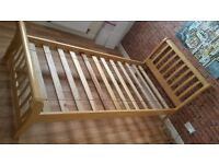 Solid real wood single bed frame