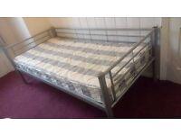 Single metal frame bed