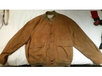 Large mens tan suede bomber jacket in great condition