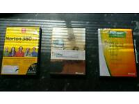2x office business 2003and student 2007 and security Norton 360!can deliver or post