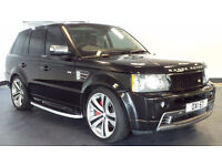 2007 57 LAND ROVER RANGE ROVER SPORT HSE 3.6 TDV8 4x4 BLACK *2 YEARS WARRANTY*FINANCE AVAILABLE*