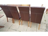 4 dining chairs- Grab a bargain!
