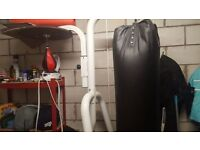 free standing punch bag plus speed ball plus 2 pairs of gloves
