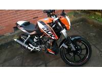 125cc ktm duke 2012 3900 miles