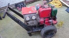 Petter diesel 240v 110v generator