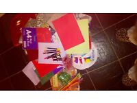 FAB XMAS CLEARANCE CRAFT bundle , big box of craft items/8 FAB NEWBOOKS, MAKING GIFTS, CARDS, ETC