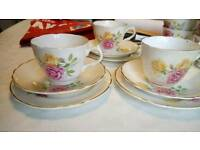Vintage tea place settings