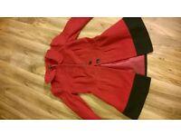 Black wool blend jacket ladies size small medium new girls 13 gap coat & red dress coat