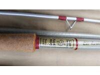 Vintage Edgar Sealey float rod - hollow glass, 12 ft long and original bag