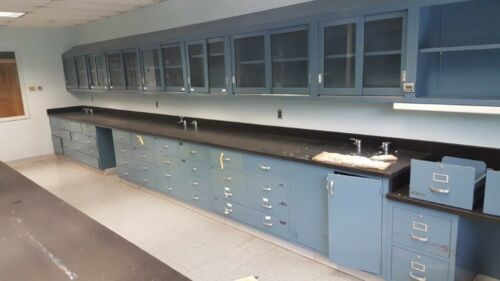 "DuraLab Lab Casework Overhead Cabinet, Blue, 47""x30""x12"" deep"