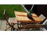 Wooden garden table & 6 chairs