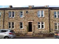 Flat for sale, Lochwinnoch. one bed, dining kitchen, DG, Gas CH., private garden, great location