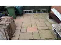 FREE Garden paving 40 sqm buff and pink