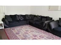 Navy Fabric sofa