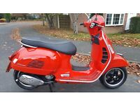 VESPA GTS 125 2013 OUTSTANDING CONDITION! LOW RECORDED MILES, NATIONWIDE DELIVERY & CARD PAYMENT OK