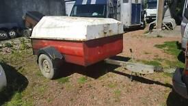western 1500 litre bunded fuel bowser trailer no vat