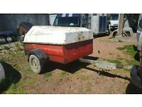 western 1500 litre bunded fuel bowser trailer no vat