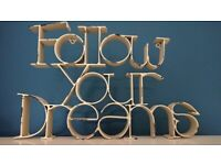 Home Decor Metal Sign FOLLOW YOUR DREAMS Picture Wall Art Rustic Vintage Shabby Chic