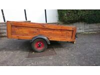Small trailer, good condition tail lights work. Good wheels and tyres. Stored in garage.