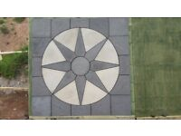 Paving 6ft star circle kit with square off kit 7ft4 x 7ft4, New