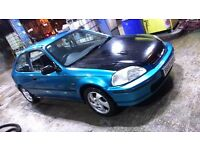 Honda civic ek ej ej9 1.4 low mileage 68k rust free vti cheap daily armrest exhaust, uprated brakes