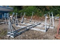 Yacht Cradle Jacobs 6 leg plus bow support galvanised dismantleable for transport collect Argyll