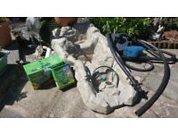 Pond equipment inc fountain, waterfall, air pump and more