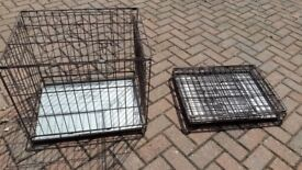 2 dog travelling cages